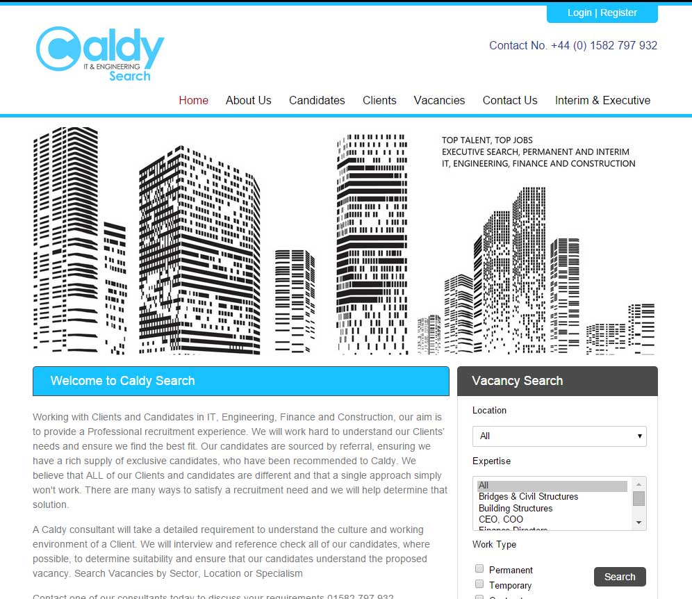 New Blueprint Website For Caldy Search Ltd A Cloud Based