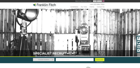 Screenshot of Franklin Fitch Specialist Recruitment website