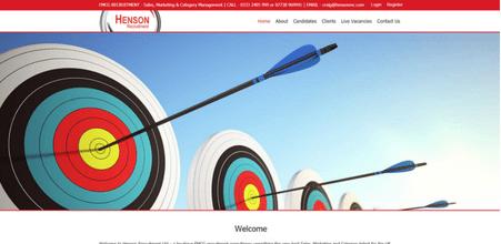 Henson Recruitment website screenshot
