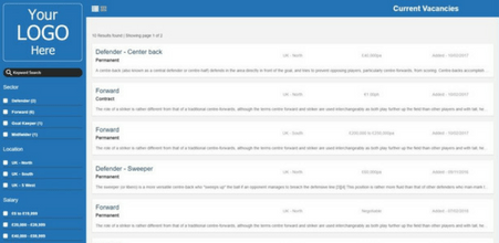 Screenshot of Chameleon-i Instant Vacancy Page