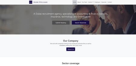 Screenshot of Mark Williams website