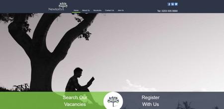 Newtons Jobs website screenshot