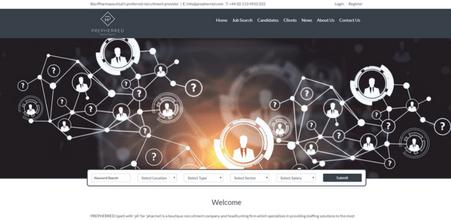 Screenshot of Prepherred Recruitment website
