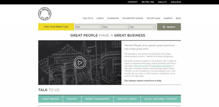 Screenshot of The Industry Club website