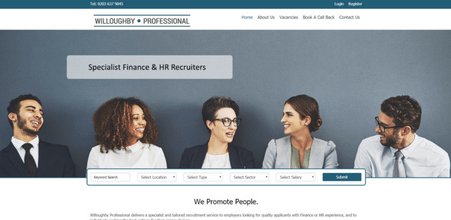 Screenshot of Willoughby Professional website