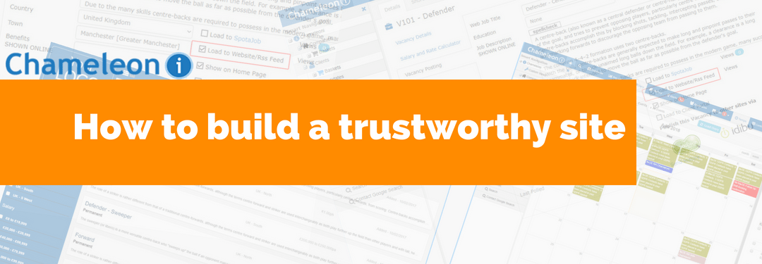 How to build a trustworthy site - banner