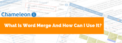 What is Word Merge banner