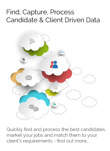 Find capture, process candidate and client data using online recruitment software
