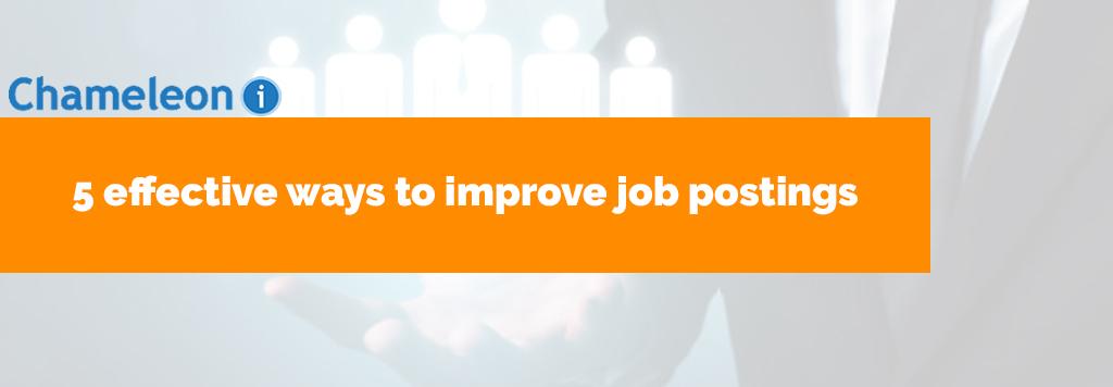 improve job postings