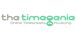 thetimegenie logo - thetimegenie, a timesheet, invoicing and expense management shaped to fit your business.